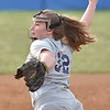 (Brad Davis/The Register-Herald) Shady Spring pitcher Brooke Presley delivers against Independence Thursday evening in Shady Spring.