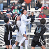 (Brad Davis/The Register-Herald) Fairmont Senior's Bubby Towns leaps to head the ball along at midfield between against Winfield Friday evening at the YMCA Paul Cline Memorial Sports Complex.