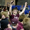 (Brad Davis/The Register-Herald) Woodrow Wilson students celebrate a win as time runs out in their win over Morgantown Wednesday afternoon in Charleston.