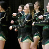 (Brad Davis/The Register-Herald) Greenbrier East cheerleaders pull for the Spartans during Big Atlantic Classic action Friday at the Beckley-Raleigh County Convention Center.