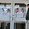A voter enters the polling place in Lewisburg at the United Methodist Church.<br /> T. Paige Dalporto/for the Register-Herald