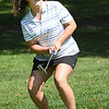 Savannah Hawkins, reacts after just missing her birdie putt on the par 4 fourth hole on the Cobb Coarse at Glade Springs during the West Virginia Junior Amateur Championship.