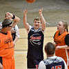 (Brad Davis/The Register-Herald) Raleigh County's Josh Matherly shoots against Fayette County during the Special Olympics game at the New River Community and Technical College Shootout Saturday morning at the Beckley-Raleigh County Convention Center.