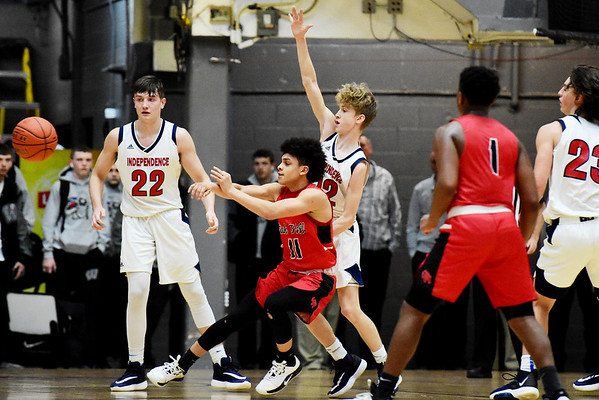 Independence played Oak Hill during their Class AA Region 3, Section 1 tournament basketball game in Beckley on Tuesday. (Chris Jackson/The Register-Herald)