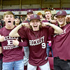 (Brad Davis/The Register-Herald) Woodrow students flex prior to the start of the Lady Flying Eagles game against Morgantown Wednesday afternoon in Charleston.