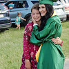 Greenbrier East High School graduate Lyrica Pence, of Lewisburg, celebrates her special day with her sister, Camryn Libby. <br /> (Christian Giggenbach/for The Register-Herald)