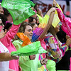 (Brad Davis/The Register-Herald) Westside's Clear Fork Crazies bring their color to the Girls State Basketball Tournament Wednesday afternoon in Charleston.