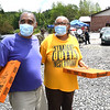 Paul and Nettie Richardson, of Mt. Hope, both walk away after getiing tested for COVID-19 outside the Mount Hope Fire Department Tuesday afternoon. This is a three day event the Fayette County Health Department is offering to help increase more testing in the area. Everyone who got tested received a free pizza. Another testing site will be active Wednesday at Kilsyth Freewill Baptist Church from 12 p.m. to 2 p.m.  and Thursday at, Oak Hill High School freom. 3 p.m. to 7 p.m.<br /> (Rick Barbero/THe Register-Herald)