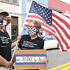 Ricdard Dulee, of Alderson and Robin Spence, of Lewisburh Protest against racism and police brutalityThursday evening on Washington Street in Lewisburg.<br /> (Rick Barbero/The Register-Herald)