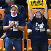 Shady Spring fans cheering for their team against Phillips Barbour in the Class AA championship match of the girls volleyball tournament in Charleston Friday even held at the Charleston Civic Center. Shady won the Championship 3-0<br /> (Rick Barbero/The Register-Herald)