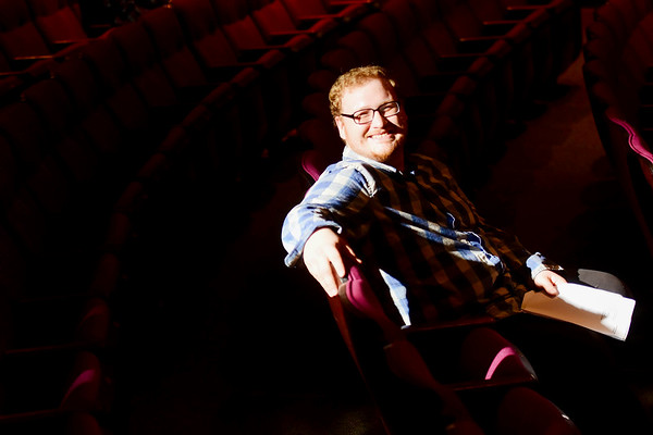 Zach Bolon, director of performing arts, at the theater at Tamarack on Tuesday. (Chris Jackson/The Register-Herald)