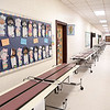 Hallways are empty at Crescent Elementary School with taechers reporteing to bags up materials belonging to their students for them to pick up at a later date. Students normally help, but could not because of COVID-19.<br /> (Rick Barbero/The Register-Herald)