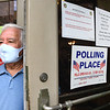Former U.S. Congressman, Nick Rahall, exits the Raleigh County Courthouse on Main Street in Beckley after early voting Wednesday morning.<br /> (Rick Barbero/The Register-Herald)