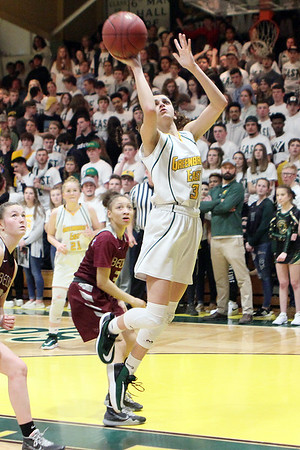 Greenbrier East's Amya Damon shoots during the Class AAA Region 3 Section 2 championship game at Greenbrier East Friday. (Jenny Harnish/The Register-Herald)