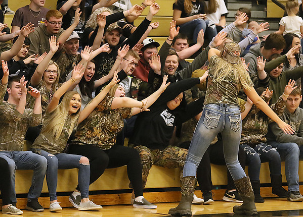 (Brad Davis/The Register-Herald) The Clear Fork Crazies do their thing as the Lady Renegades take on Bluefield Thursday night in Clear Fork.