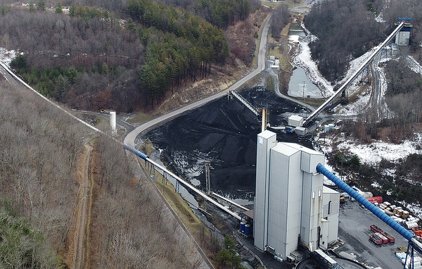 The Arch Coal Beckley complex site in Eccles Friday. (Jenny Harnish/The Register-Herald)