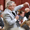 (Brad Davis/The Register-Herald) Delegate Mick Bates (D-Raleigh) speaks during a night session in the House during the final day of the state's regular legislative session Saturday in Charleston.