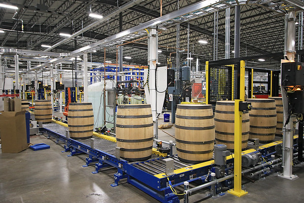 The West Virginia Great Barrel company in Caldwell delivered their first shipment of barrels to Smooth Ambler Spirits Monday. (Jenny Harnish/The Register-Herald)