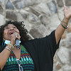 """Sarah Lewis sang """"Battle Heal of the Public"""" at the Heart of God Ministries Church on South Kanawha Street during a prayer vigil over the death of George Floyd, the Minneapolis man who was killed by a police officer Monday.<br /> (Rick Barbero/The Register-Herald)"""