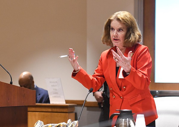 Raleigh County prosecuting attorney, Kristen Keller speaks during the Franklin Yancey plea hearing before Raleigh County Circuit Judge Andrew Dimlich.<br /> Rick Barbero/The Register-Herald)