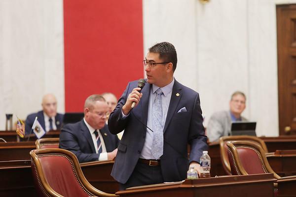 West Virginia Senator Tom Takubo, (R - Kanawha), speaks during opening day of the West Virginia Legislative Session in Charleston, W.Va., Wednesday, January 8, 2020. (Chris Jackson/The Register-Herald)