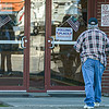 An Oak Hill voter makes his way into the Lewis Center on Tuesday morning. F. Brian Ferguson