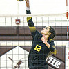 Greenbrier East's Bali Coles returns a shot during Thursday evening action in Beckley. F. Brian Ferguson