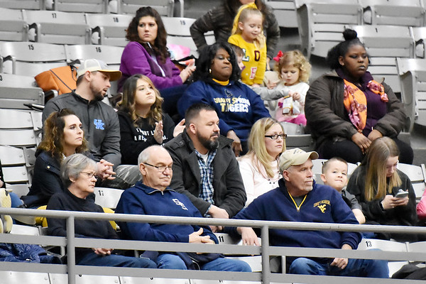 Fans during the Shady Spring Park Middle School basketball game in Beckley.
