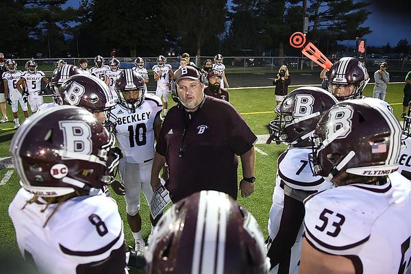 Woodrow Wilson against Greenbrier East Friday night opening the start of High School Football season in Fairlea.<br /> (Rick Barbero/The Register-Herald)