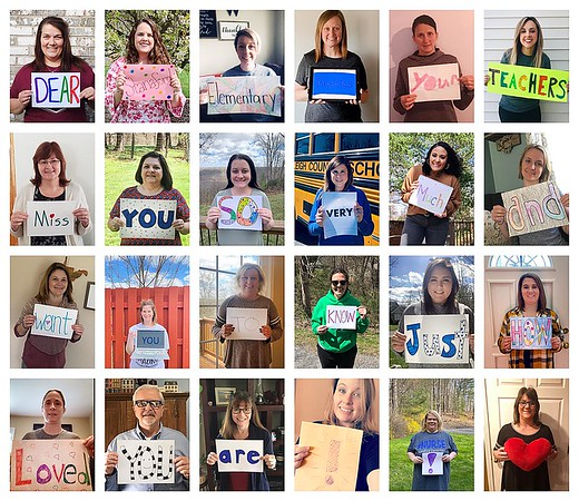 Teachers at Stanaford Elementary School created a message for their students letting them know they're missed during the coronavirus crisis.<br /> Submitted Photo