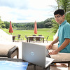 Kaef Rehman, 17, senior at Shady Spring High School, put together his own personal COVID research project.<br /> (Rick Barbero/The Register-Herald)