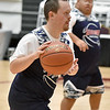 (Brad Davis/The Register-Herald) Raleigh County's Billy Hix hustles up the court against Fayette County during the Special Olympics game at the New River Community and Technical College Shootout Saturday morning at the Beckley-Raleigh County Convention Center.