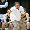 (Brad Davis/The Register-Herald) Westside head coach Shawn Jenkins instructs his team against Wyoming East during the New River Community and Technical College Shootout Saturday at the Beckley-Raleigh County Convention Center.