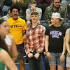 (Brad Davis/The Register-Herald) Summers County students react as their Lady Bobcat classmates get back into the game against Charleston Catholic Wednesday night in Hinton.