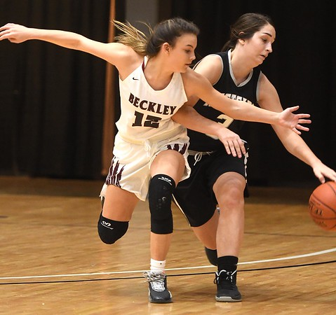 Woodrow Wilson girls vs Westside during the second annual New River CTC Invitational held at the Beckley Raleigh County Convention Center. Woodrow won 60-35.<br /> (Rick Barbero/The Register-Herald)
