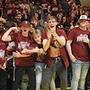 Woodrow Wilson fans celebrate after winning the Class AAA Region 3 Section 2 championship game against Greenbrier East in Fairlea Friday. (Jenny Harnish/The Register-Herald)