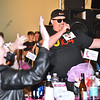 "(Brad Davis/The Register-Herald) J.R. Mink and teammates jam out amongst the audience during the team competition portion of the Hunks in Heels ""Fur"" Real fundraising event Friday night at the Beckley Moose Lodge."