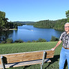 Jim Hall standing in front of the overlook at Lake Stephens. Hall helped establish the lake back in the late 50s and 60s.<br /> (Rick Barbero/The Register-Herald)