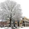 Snow scene viewed from Heber Street in Beckley Tuesday afternoon.<br /> (Rick Barbero/The Register-Herald)