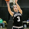 (Brad Davis/The Register-Herald) Westside's Hannah Toler shoots from three-point range against Wyoming East during Friday action at the New River Community and Technical College Shootout at the Beckley-Raleigh County Convention Center.