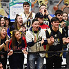 Shady Spring student section cheers during their basketball game against Wyoming East in Beckley on Thursday. (Chris Jackson/The Register-Herald)