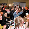 """(Brad Davis/The Register-Herald) The crowd reacts during the Hunks in Heels """"Fur"""" Real fundraising event Friday night at the Beckley Moose Lodge."""