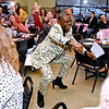 """(Brad Davis/The Register-Herald) Tony Martin earns his dollars getting down with the audience during the Hunks in Heels """"Fur"""" Real fundraising event Friday night at the Beckley Moose Lodge."""