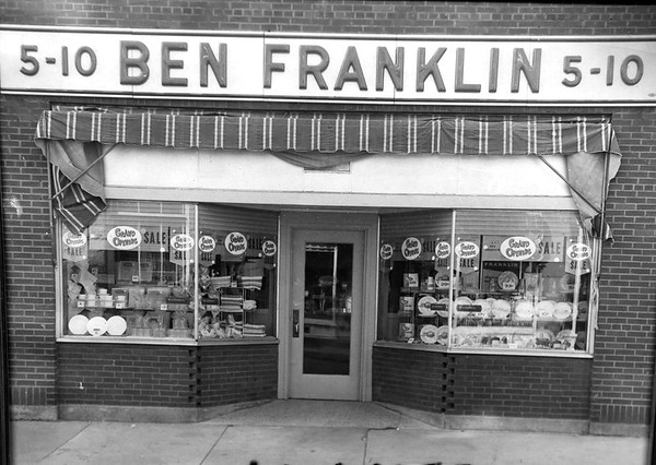 Ben Franklin store July 1, 1955