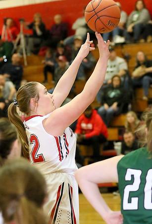 (Brad Davis/The Register-Herald) Oak Hill's Krista Shrewsberry shoots against Wyoming East Thursday night in Oak Hill.