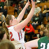 (Brad Davis/The Register-Herald) Oak Hill's Krista Shrewsberry shoots against Wyoming East Thursday night in Oak Hill.