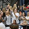 (Brad Davis/The Register-Herald) Westside students react to a Renegades three-pointer hit against Wyoming East Saturday.