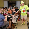 """(Brad Davis/The Register-Herald) Brian Janney mingles with the crowd 2020 Hunks in Heels """"Fur"""" Real fundraising event at the Beckley Moose Lodge."""