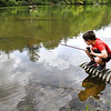 Braxton Shrewsbury, 6, of Coal City fishing at Little Beaver State Park. Today state parks were aloud to opened after being shut down due to COVID-19.<br /> (Rick Barbero/The Register-Herald)