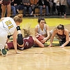 Woodrow Wilson and Greenbrier East players fight for possession of the ball during the Class AAA Region 3 Section 2 championship game at Greenbrier East Friday. (Jenny Harnish/The Register-Herald)